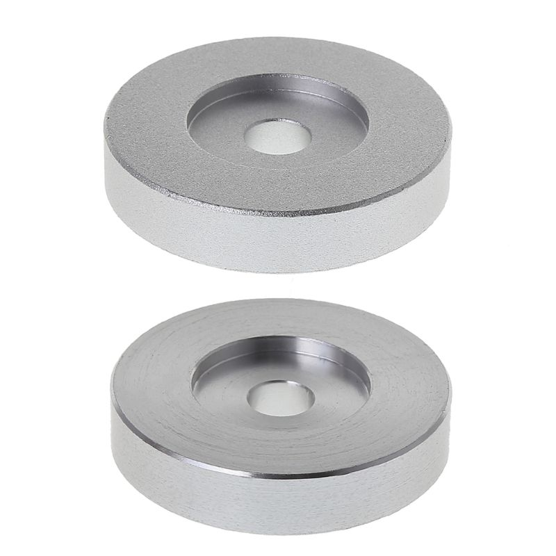 Record <font><b>Turntable</b></font> Adapter 45 RPM Frosted Silver for 7