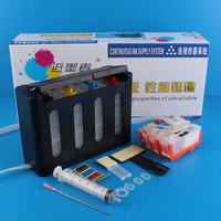 Universal 4Color Continuous Ink Supply System CISS kit with full accessaries ink tank for HP 3525 4625 4615 5525 6525 Printer