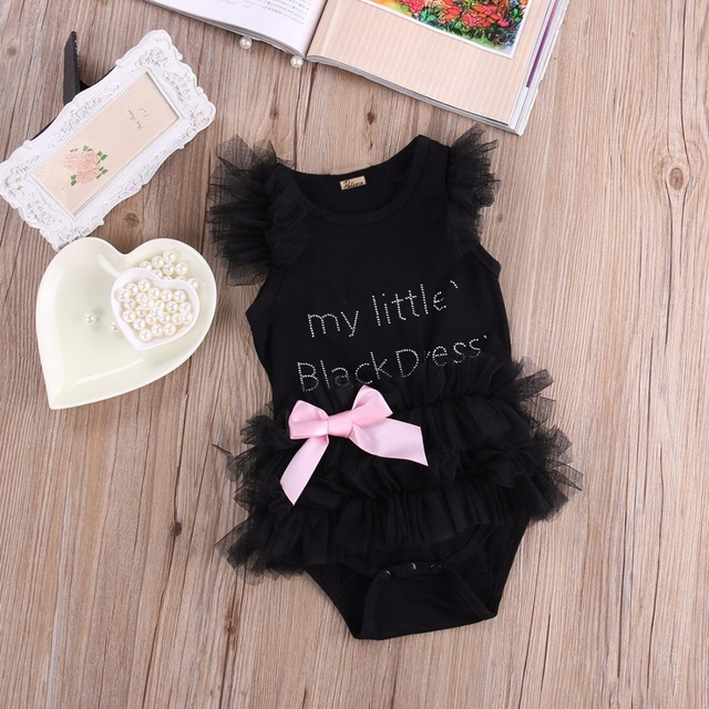 Cute Little Black Dress Bodysuit for Baby Girls | Spring 2017 Collection