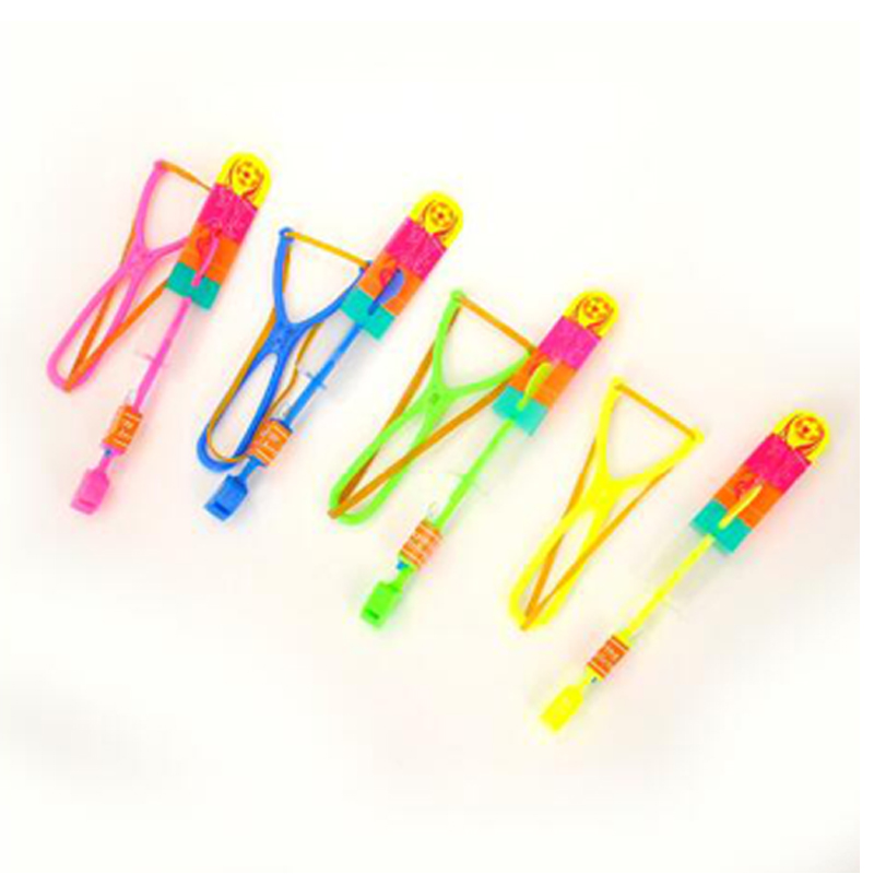 1 or2pcs High Quality LED Light Slingshot Flying Arrow Catapult Outdoor Kid Toy