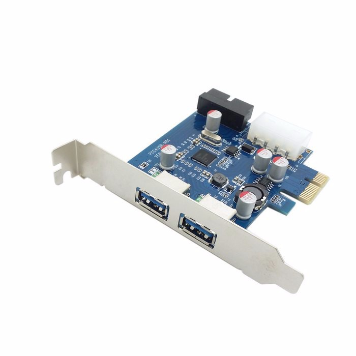 USB 3.0 PCI-E card & 2 PORT and 20pin Female & Low Profile Half height bracket