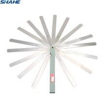 SHAHE Портативный 150 мм длина 17 лезвий щупа датчик метрический щупа 0,02-1,00 мм измерительный инструмент
