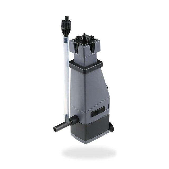 3 W SUNSUN superficie skimmer aceite eliminar película + añadir oxígeno + flujo de aire ajustable flujo de agua para agua salada, skimmer de proteínas acuario