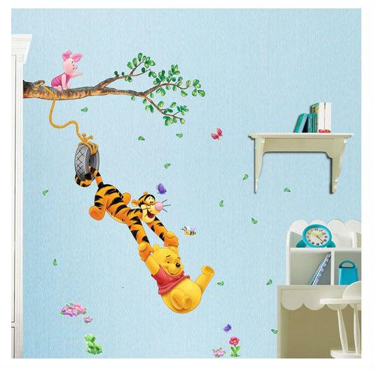 Cute Cartoon Trees Animal Wall Stickers Nursery Daycare Baby Princess Love  Room Diy Vinyl Decoration Poster Mural Wall Art Decal In Wall Stickers From  Home ... Part 53
