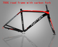 High Quality 2019 new Aluminum road bike Frame carbon with Fork Road cycling 700c 46cm 48cm 50cm 52cm bicycle frameset parts
