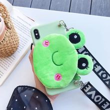 Cute Fluffy Animals Wallet Case For Oneplus 5 5T 6 6T 7 Pro Doll Cover