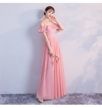 Red Bean Pink Colour Bridesmaid Dresses Chiffon Dress Wedding Guest Dress Sleeveless Back of Zipper red bean pink colour sleeveless above knee mini dress bridesmaid dress wedding guest dress sexy back of bandage