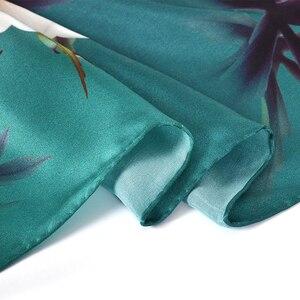 Image 5 - BYSIFAใหม่Luxuryผ้าไหมผ้าพันคอผ้าคลุมไหล่ผู้หญิงสีเขียวเข้มยาวผ้าพันคอแฟชั่นผ้าไหม 100% คอผ้าพันคอFoulard 175*52 ซม.
