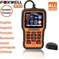 Foxwell nt 510 para Chrysler Auto Automotive ferramenta de Diagnóstico OBD 2 OBDII scanner de diagnóstico automotivo-leitores de código de varredura ferramentas