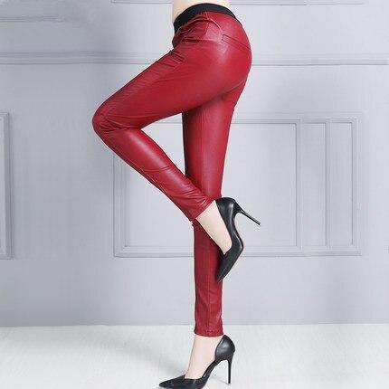 green Peau Mince En red Femmes purple grey Pantalon Black 2019 P4 Mouton De qXZpwnExz