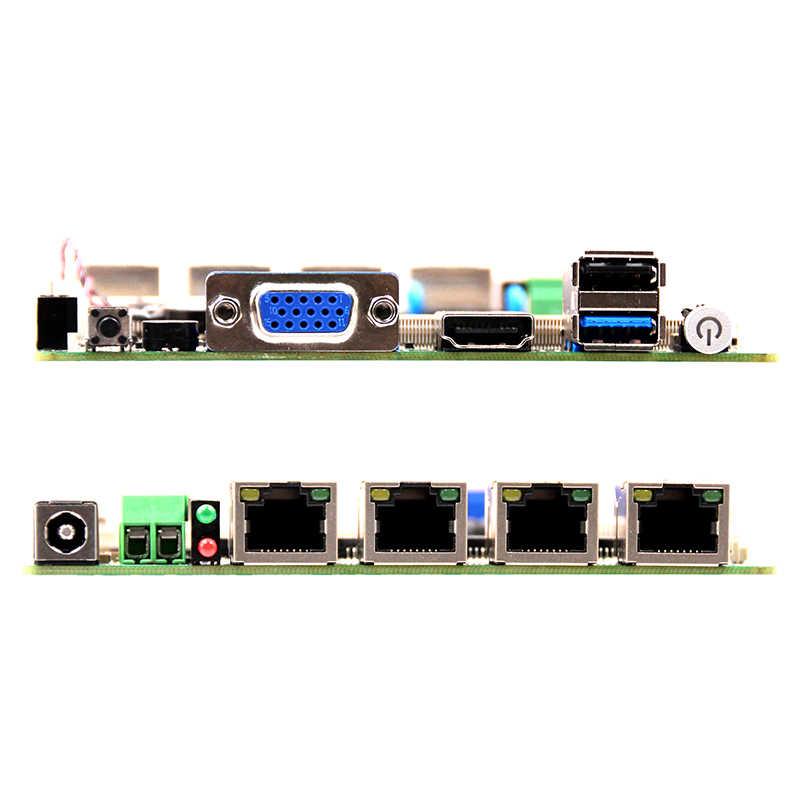 Самая низкая цена материнская плата 2 * I211AT Gigabit Ethernet безвентиляторная материнская плата J1900 процессор мини ПК с X86 linux
