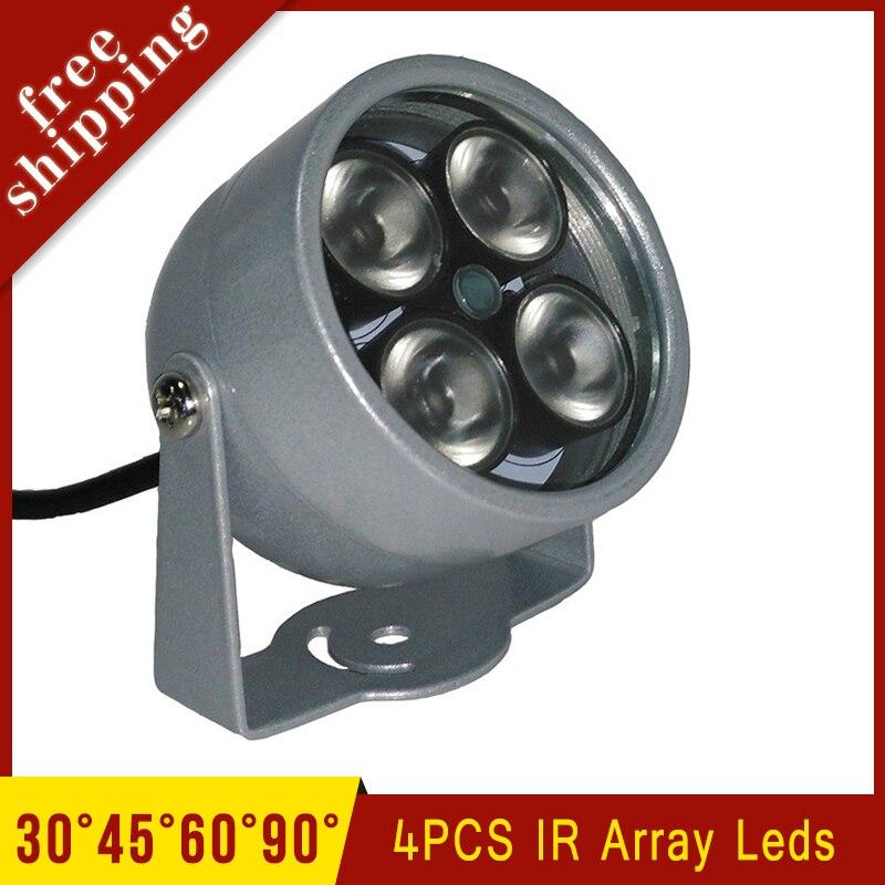 CCTV Camera Metal Case Outdoor Waterproof 4pcs Infrared Array led Lamp IR illuminator Night Vsion Fill Light Free Shipping free shipping outdoor waterproof metal case100