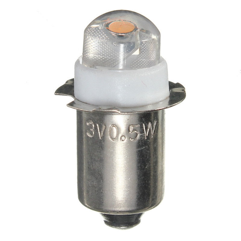 2pcs/lot LED Focus Flashlight Replacement Bulb P13.5S PR2 0.5W Torches Work Light Lamp DC 3V 4.5V 6V Pure/Warm White