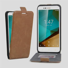 Vintage Flip Wallet Leather Cellphone Cover Case For Coque Vodafone Smart Prime 7 VF600 VF 600 Retro With Card Holder Luxury