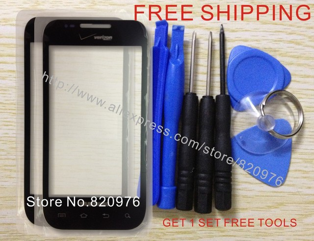 10pcs/Lot Wholesale Original Touch Screen Outer LCD Replacement Glass For Samsung Galaxy S i500 500 + Tools+ Free Shipping