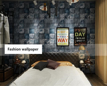 beibehang Nostalgic retro classic wall paper imitation wood personality papel de parede 3d wallpaper store