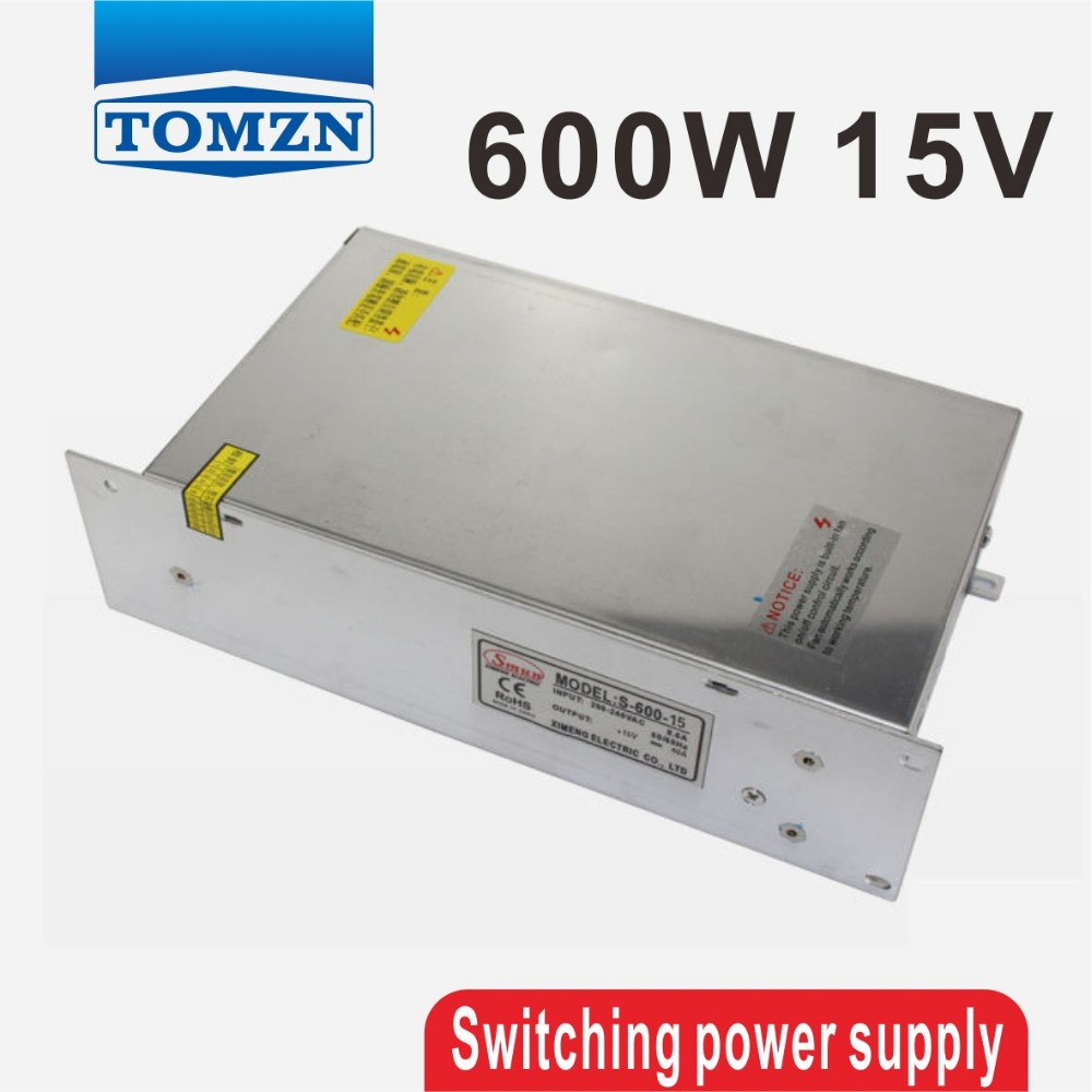 600W 15V 40A 220V input Single Output Switching power supply for LED Strip light AC to DC smps 1200w 12v 100a adjustable 220v input single output switching power supply for led strip light ac to dc