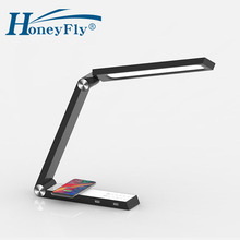 купить HoneyFly LED Triangle Wireless Charging Desk Lamp Dimmable Rotatable Table Lamp Smart Home Eye Protection Indoor Lighting по цене 3404.74 рублей