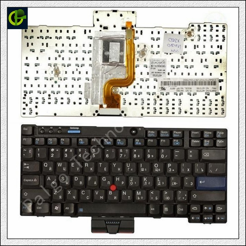 Clavier russe pour IBM Lenovo ThinkPad X200 X201 Tablet X200 X200s X200si X200t X201 X201i X201S RU 09S1SF 42T3737 42T3767