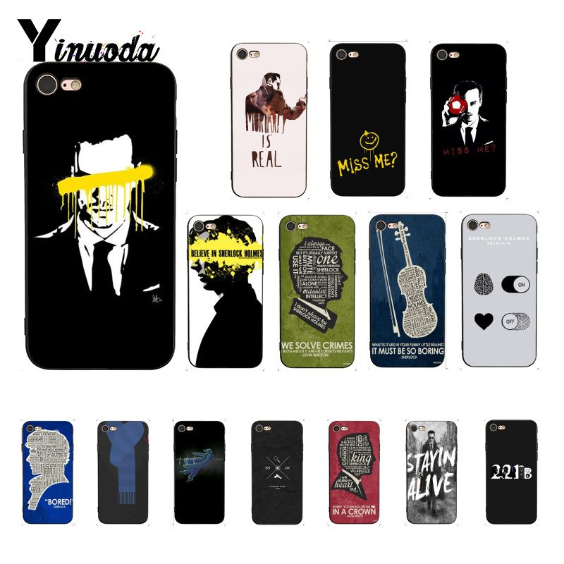 Yinuoda Sherlock Moriartee 221B Luxury Unique Design <font><b>PhoneCase</b></font> for <font><b>iPhone</b></font> 5 5Sx 6 7 <font><b>7plus</b></font> 8 8Plus X XS MAX XR 10 Case image