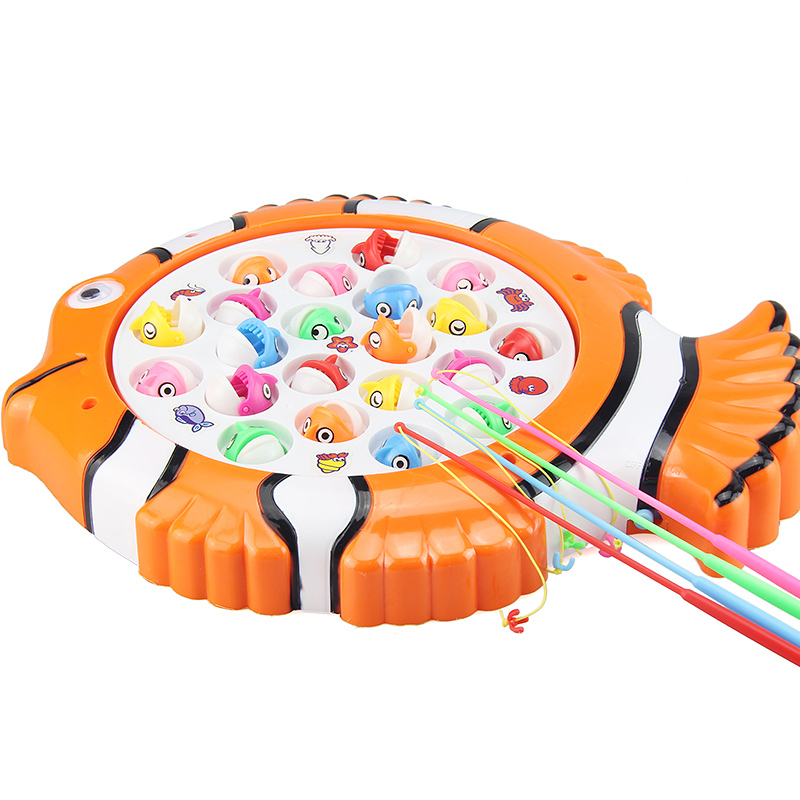 KAWO Plastic Electric Toy Magnetic Fishing Toy Fishing Game Kid Children Educational Toy Musical Gift Indoor Outdoor Toys