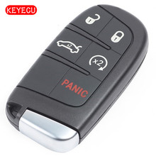 Keyecu Replacement Smart Remote Key Fob 5 Button 433MHz ID46 Chip for Chrysler 200 300 2011-2018 FCC: M3N-40821302
