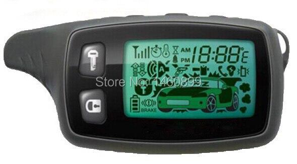 TW 9010 LCD Controle Remoto Fob Chave, Tamarack para a Versão Russa Tomahawk TW9010 dois sentidos do sistema de alarme de carro/Tomahawk TW-9010