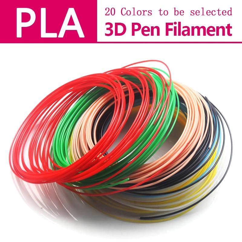 3D գրիչ թելիկ PLA 1.75 մմ DIY գույնի բազմազանությունը ընտրում է կատարյալ 3D տպիչ գրիչ պլաստիկ, երեխաներ, ինչպիսիք են ABS / PLA պլաստիկը