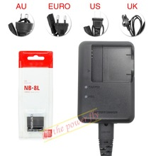 NB 8L NB-8L Rechargeable Battery + CB-2LAE CB-2LA Charger pack For Canon PowerShot A3300 A3200 A2200 A1200 A3100 CAMERA