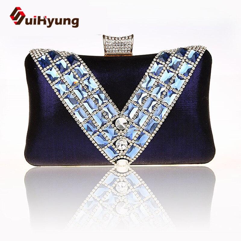 ФОТО Free Shipping New Luxury Women Crystal Clutch Bag Fashion Patchwork Diamond Wedding Day Clutch Party Evening Bag Ladies Handbag