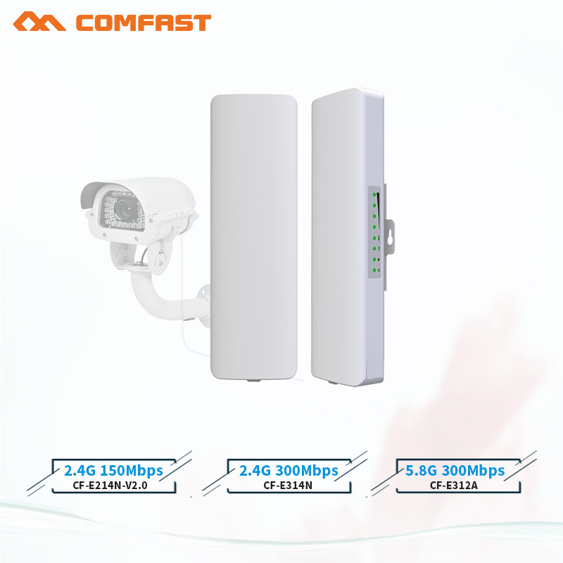 Hot comfast 2-3KM 2.4Ghz&5.8Ghz 150~300Mbps Outdoor wireless bridge CPE router wi fi signal amplifier booster extender repeater(China)