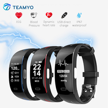 Teamyo Smart bracelet Blood Pressure ECG+PPG Sport Pedometer Cicret Fitness Watch Smart band Activity tracker Smart wristband(China)