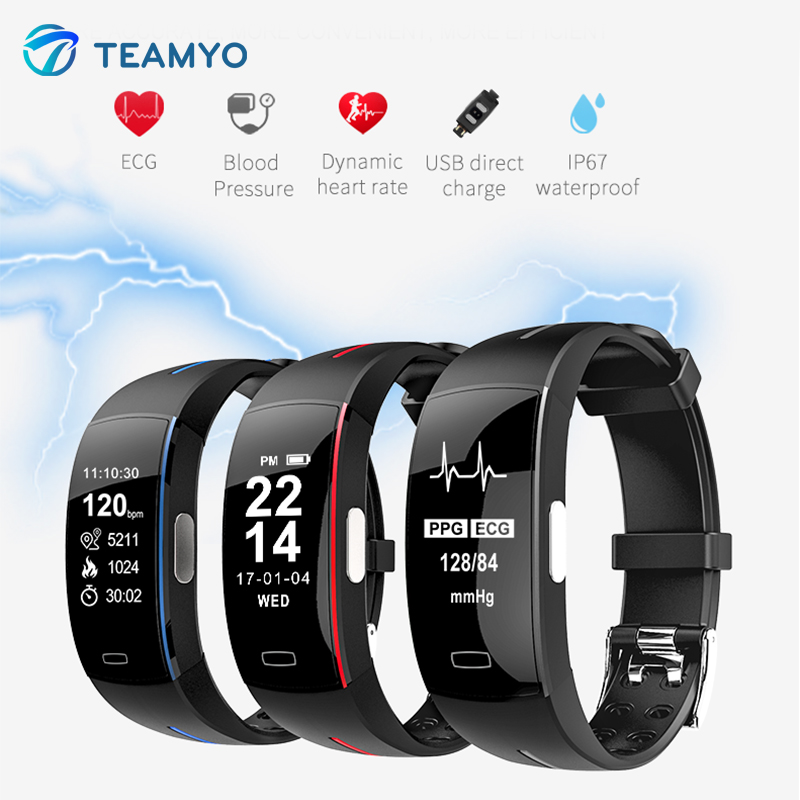 Teamyo fitness bracelet Smart watches Blood pressure Sport pedometer cicret fitness watch Activity tracker GPS Smart wristband