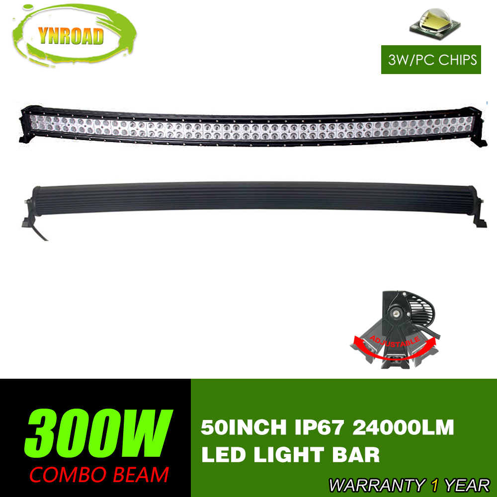300W 50inch  Curved CREE LED offroad Bar with wiring loom Spot Flood Combo Beam 10V-30V SUV ATV 4x4 Truck 4WD 24000LM