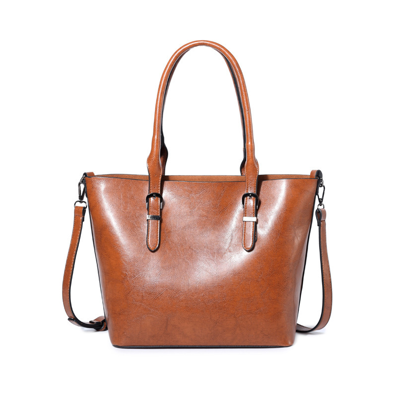 2018 Fashion PU Leather Top-handle Women Handbag Solid Ladies Lether Shoulder Bag Casual Large Capacity Tote Crossbody Bags C379
