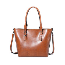 2018 Fashion PU Leather Top-handle Women Handbag Solid Ladies Lether