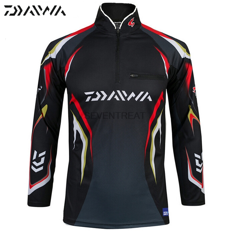 DAIWA DAWA M-5XL Fishing Clothing Men Clothes Breathable Sun UV Protection Outdoor Sportswear Suit Fishing Shirt