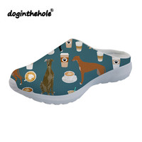 doginthehole Womens Clogs Summer Beach Shoes for Women Greyhound Wine Printing Outdoor Sport Sandals Mesh Sea Shoes Water Flat