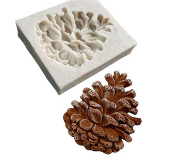 50pcs Pine nuts shaped 3D fondant cake silicone mold for polymer clay molds chocolate pastry candy making decoration tools