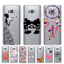 Cartoon Butterfly Pattern Soft TPU Silicone Phone Back Case Cover For Samsung Galaxy S6 S7 Edge S8 S9 S10 Plus S10E 5G Cuque(China)