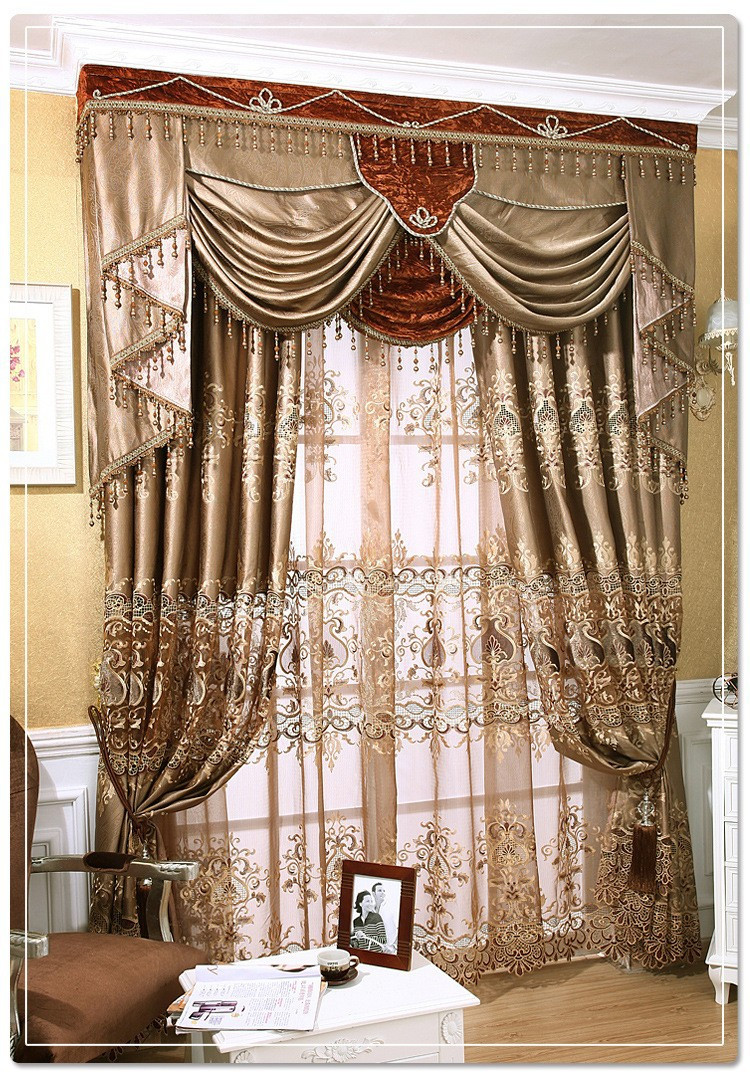 european style curtains for living room blackout blinds 61416