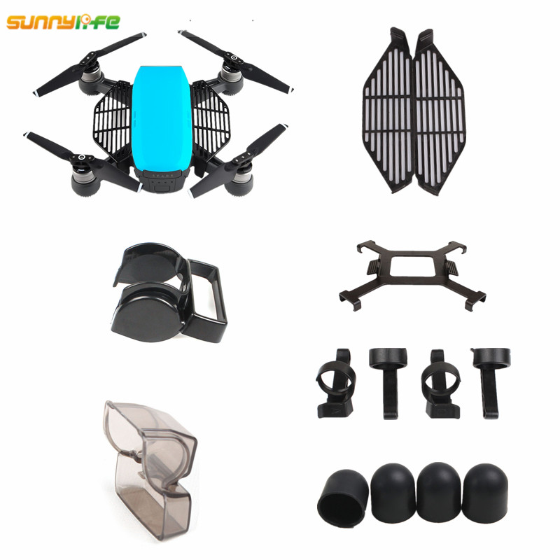 Bump-Proof 3D Sensor System Screen Camera Integrated Fly More Protective Cover for DJI Spark Sunnylife PTZ Dust-Proof DJI Spark Gimbal Cover Scratch-Proof