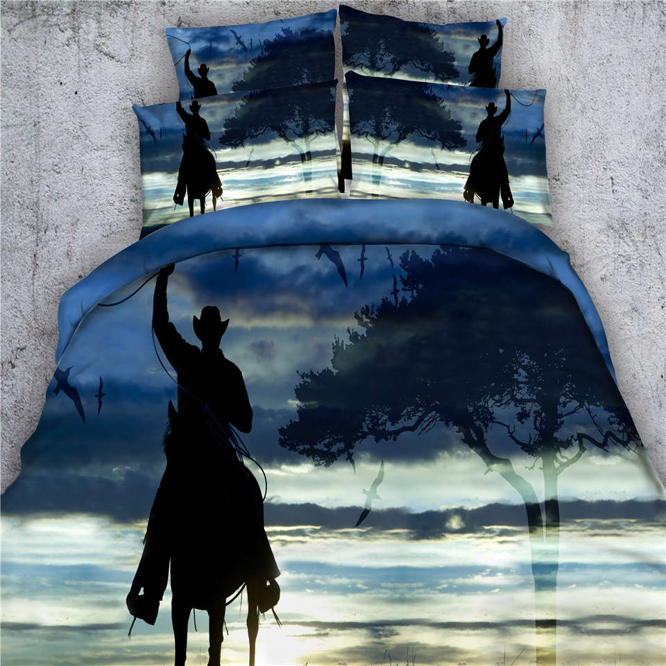 Cheval Cow Girl Literie Taille Couette Couverture Queen King Double