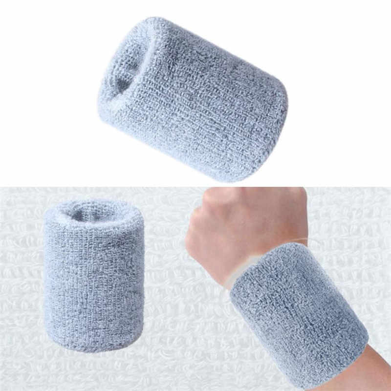 Quality  Cotton Wristbands prevent sweating solid color Wrist Band Bands Sweatbands Unisex Sweat Band for Sport Tennis #20