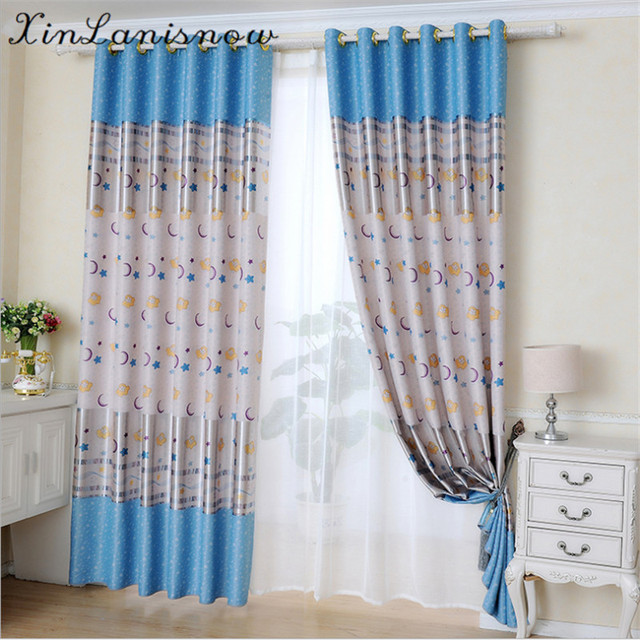 Merveilleux Children Bedroom Curtains Flannel Printing Curtain For Kids Living Room  Bedroom Blackout Curtains Window