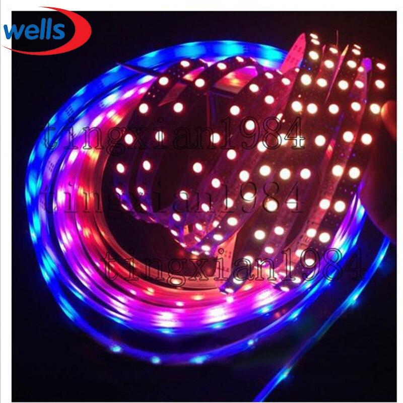 50 м 10X5 м 60 пикс./м индивидуально адресуемых WS2812B WS2811 5050 RGB Светодиодные ленты 5 V белый/черный не обладает водонепроницаемостью: - 3