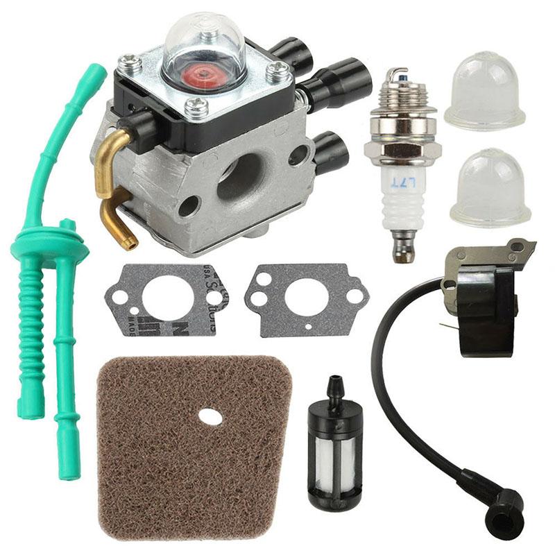 Carburetor Air Filter Ignition Coil Kit For STIHL FS55 FS38 FS55R KM55 FS45 FS46
