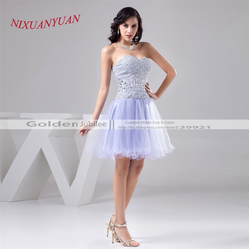 2016 New Arrival Charming Tulle Party Gown Sweetheart Short Beaded   Cocktail     Dress   2016 Custom Made vestidos de   cocktail   W21563