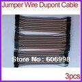 3 set/lot 20 cm M2M M2F F2F Dupont Cable Los 120 unids Para Arduino
