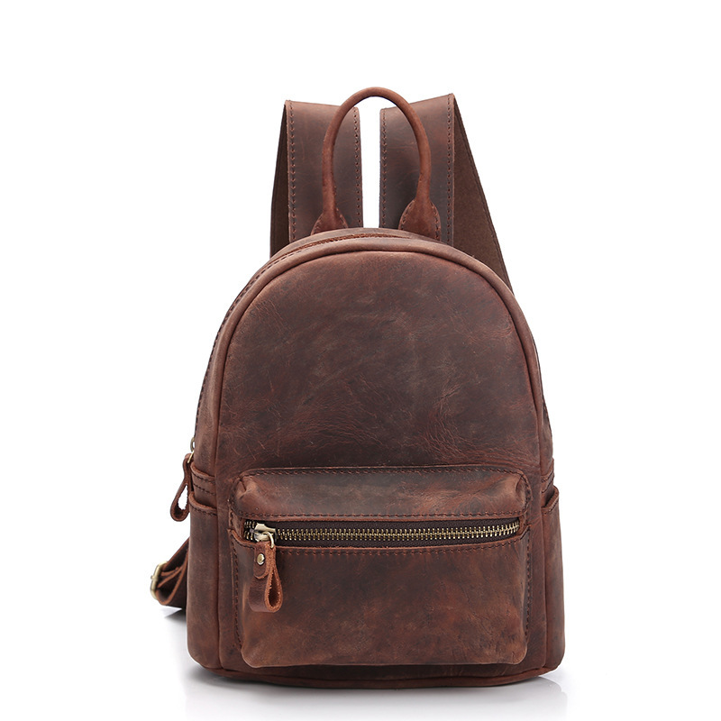 Spot crazy Mappi Ms. Double shoulder Bag Yuantong head layer cowhide retro shoulder bag leather personality backpack GirlSpot crazy Mappi Ms. Double shoulder Bag Yuantong head layer cowhide retro shoulder bag leather personality backpack Girl